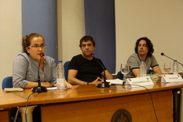Cristina Gutiérrez, Vicente Muñoz Álvarez y Jorge M. Molinero. Foto: L. Fraile Cristina Gutiérrez, Vicente Muñoz Álvarez y Jorge M. Molinero. © Foto: L. Fraile.