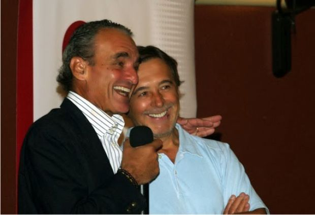 Mario Conde y Daniel Movilla en un acto de Sociedad Civil y Democracia.
