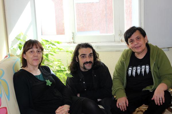 De izquierda a derecha: Chus Aguado, Félix Muñiz y Cruz G. Casado. © Fotografía: Magdalena Alejo.