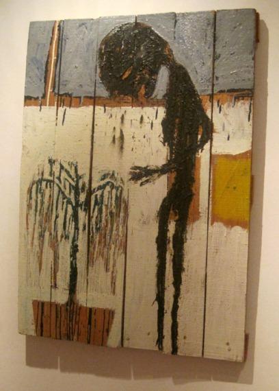 """Una de las obras de Ampudia que se puede ver en el Centro Leonés de Arte (CLA), en la exposición """"Lecturas para una colección""""."""