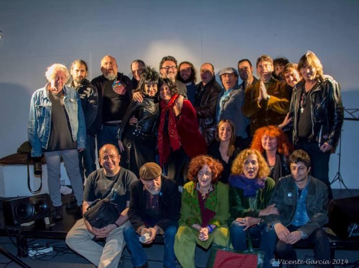"""Algunos de los participantes en la """"Encrucijada"""", el sábado, 31 de mayo. © Fotografía: Vicente García."""
