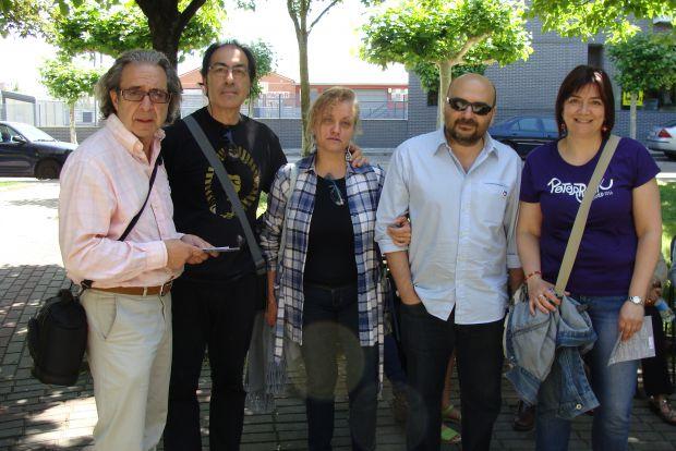 Jesús Anta, Maguil, Mercedes Pastor, Sansón y Margarita García. Foto: L. Fraile.