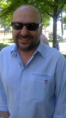 """El editor y dibujante Rafael Vega, """"Sansón""""."""