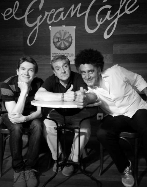Miguel Angel Barajas, Alberto Díaz y Javier Bermejo. © Fotografía: Cortesía de Tespresso.