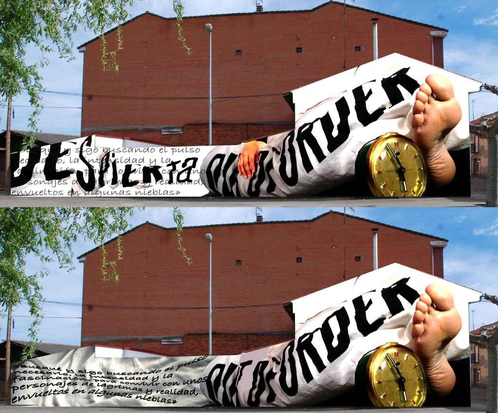 Imagen de las dos propuestas de mural.