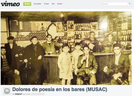 """Haz un click para ver el vídeo de VEGA sobre los """"Dolores de poesía en los bares"""" proyectado en esta sesión."""
