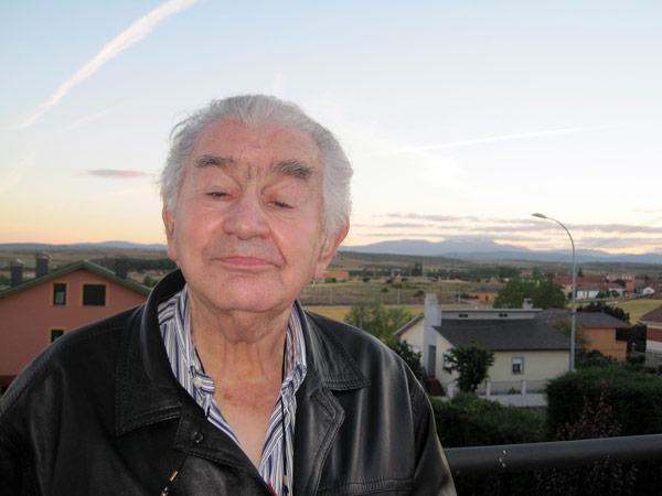 Antonio Gamoneda, en una imagen tomada en junio de 2014, en Astorga. © Fotografía: Eloísa Otero.