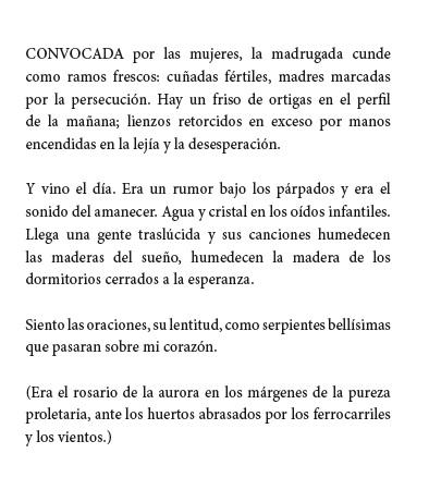 """Poema de Antonio Gamoneda incluido en el libro """"Marcas de Cantores""""."""