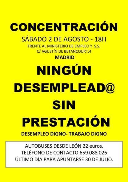Concentración en Madrid, el 2 de agosto de 2014.
