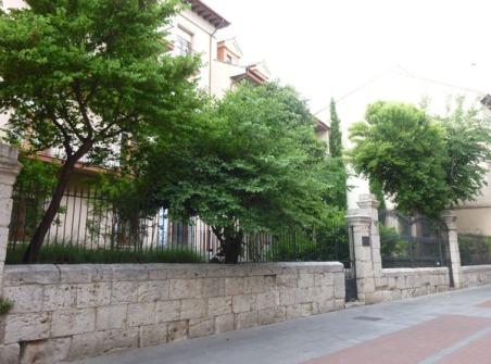 Jardines en ante patios de casas. / Calle Núñez de Arce. Fundación Santiago y Segundos Montes. Valladolid. © Fotografía: José Carlos Sanz.