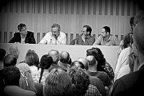 """Presentación del libro """"Una habitación en Europa"""", de Avelino Fierro. © Fotografía: Paco Gómez."""
