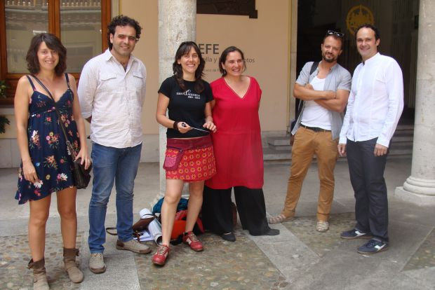Paloma Leal, Ramón Enríquez, Ana Zamora, Mercedes Herrero, José Luis Gutiérrez y Álex Rodríguez. Foto: L. Fraile.