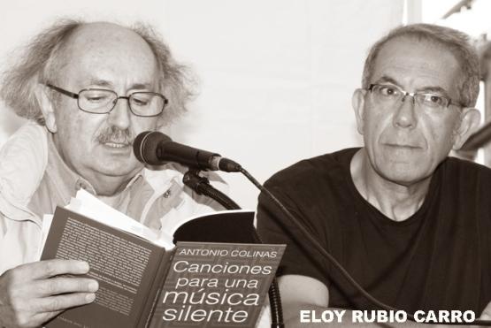 Antonio Colinas y Tomás-Néstor Martínez. © Fotografía: Eloy Rubio Carro.