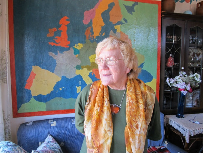 Eva Schenk en la casa de Sueros de Cepeda donde realizamos la entrevista. © Fotografía: astorgaredaccion.com