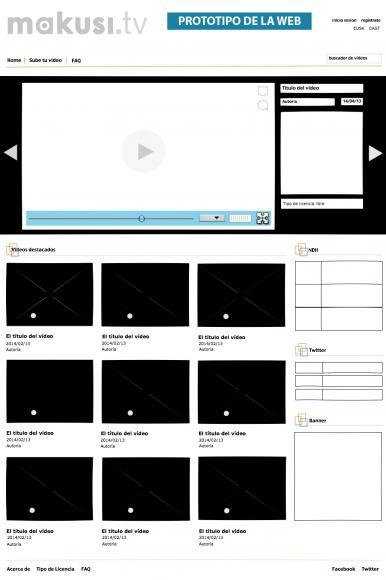 Prototipo de la web Makusi.tv