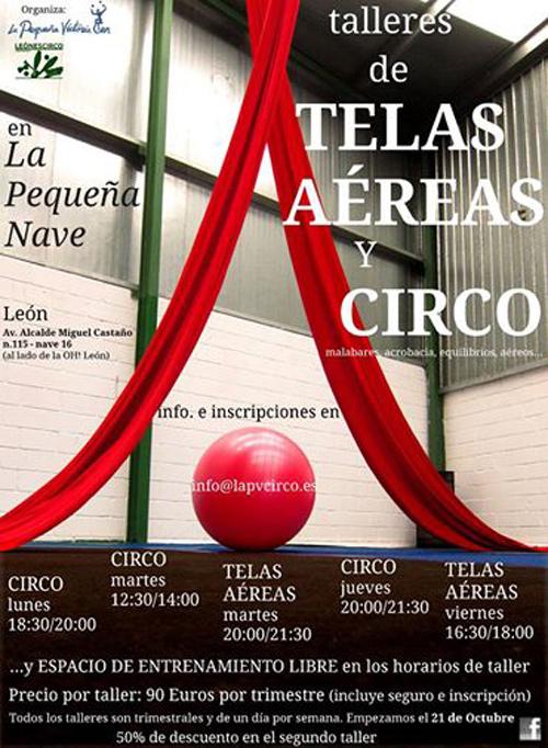 Convocatoria de talleres de telas aéreas y circo.