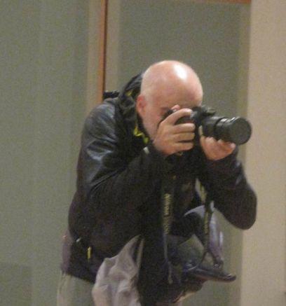 Mauricio Peña, en acción. © Fotografía: Eloísa Otero.