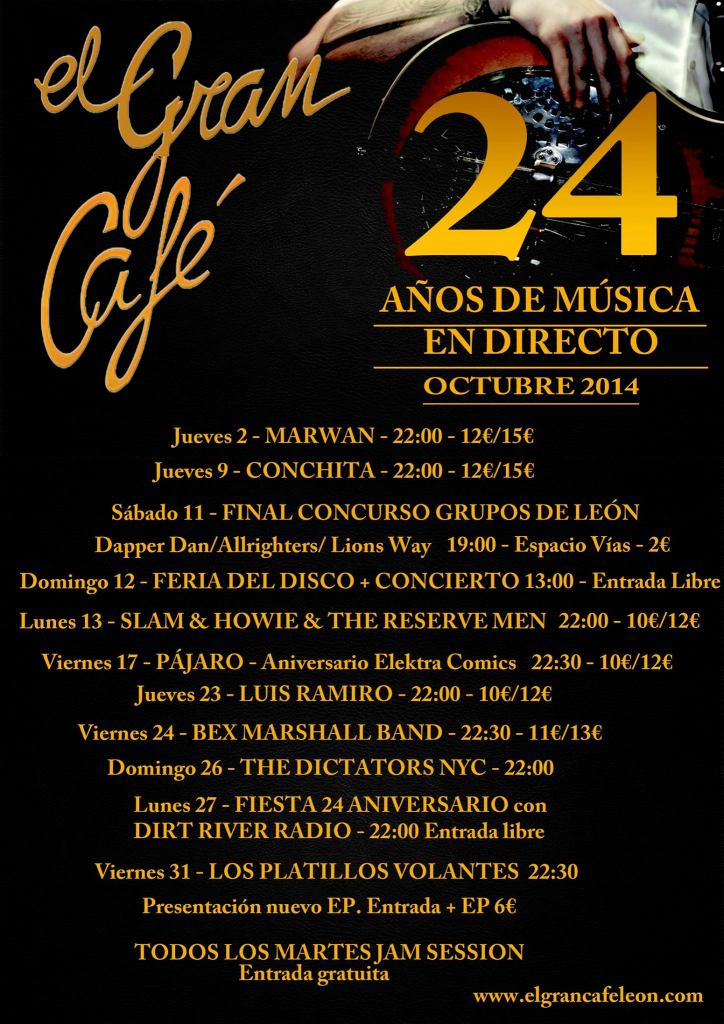 Varios son los grupos que actuarán este mes en El Gran Café