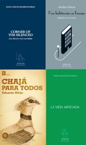 Portadas de cuatro libros de colaboradores de Tam Tam Press.