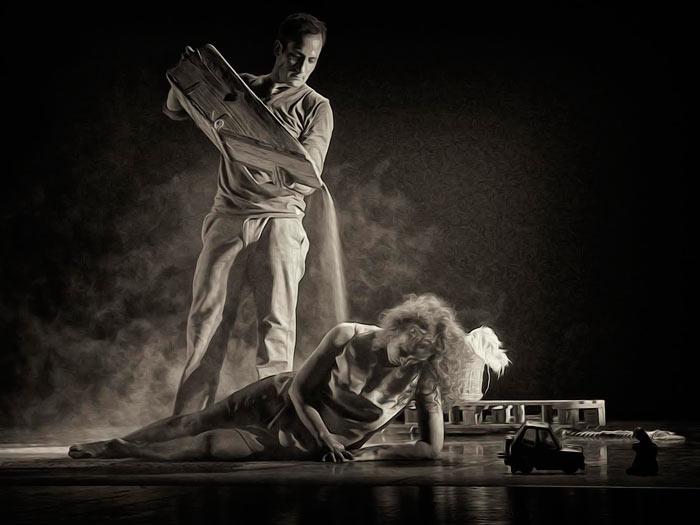 """Imagen del espectáculo de """"8rmigas"""", el pasado 31 de octubre en el Auditorio de León. © Fotografía: Abel Morán."""