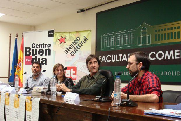 Víctor del Árbol, Noemí Sabugal, Benjamín Prado y Javier López Menacho. Foto: L. Fraile.