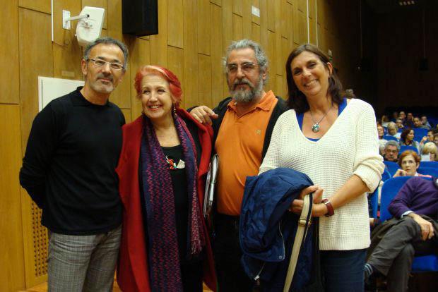 Antonio Corbillón, Rosa Mª Calaf, Luis Pérez y Esther Doménech. Foto: L. Fraile.