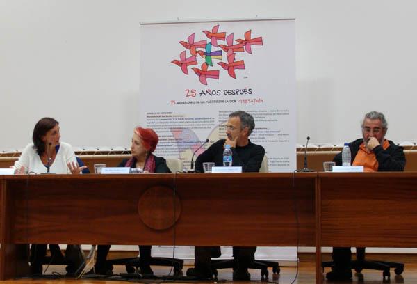 Esther Doménech, Rosa Mª Calaf, Antonio Corbillón y Luis Pérez. Foto: L. Fraile.