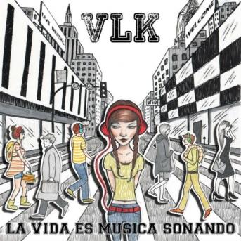 La portada del disco, en la que contrasta el blanco y negro y el color entre quienes escuchan música y no.