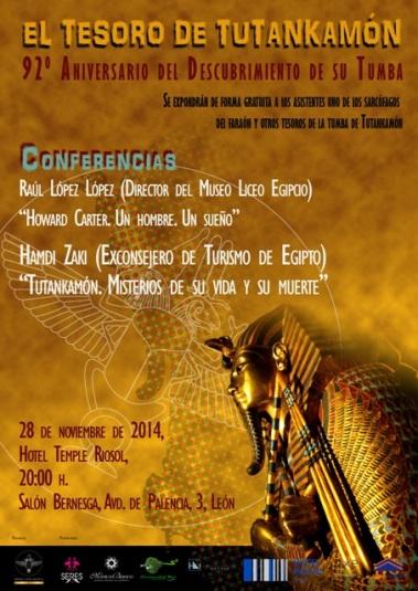 Tesoro de Tutankhamón. Cartel Conferencias