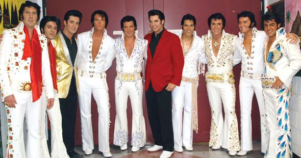 Todo un clásicio en el campo de la imitación, el 'impersonator' de Elvis.