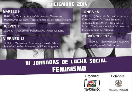 Cartel de las jornadas organizadas por Alternativa Universitaria.