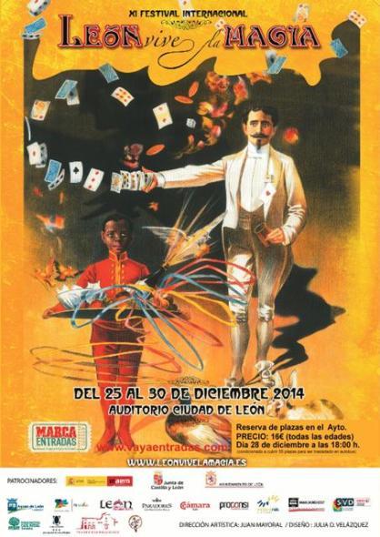 "Cartel XI Festival ""León Vive la Magia"""