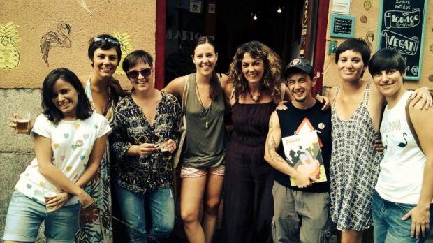 Parte del equipo de Pikara Magazine durante un encuentro con socias en Madrid. Foto: Pikara Magazine.
