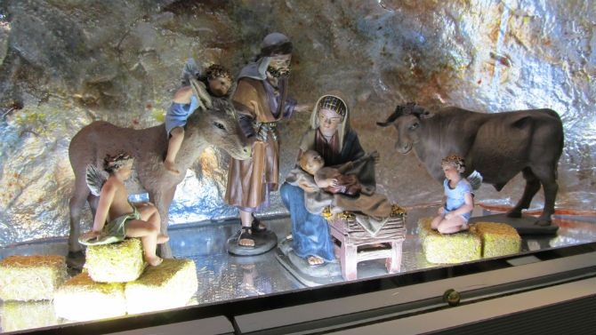 """El """"belén"""" de la Óptica Jáñez, en Astorga. © Fotografía: astorgaredaccion.com"""