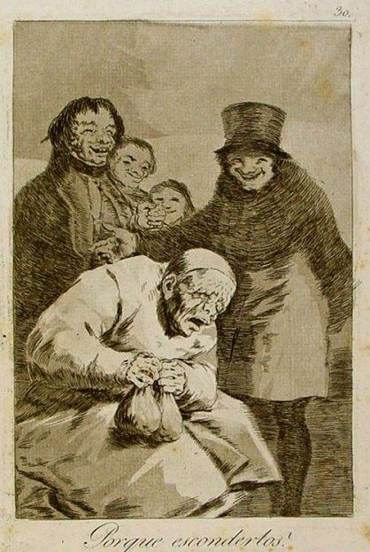 """El aguafuerte """"¿Por qué esconderlos?"""" es un grabado de la serie """"Los Caprichos"""" de Goya, publicado en 1799."""