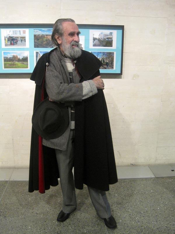 Isidoro Valcárcel Medina durante la presentación de su exposición en el Musac. © Fotografía: Eloísa Otero.