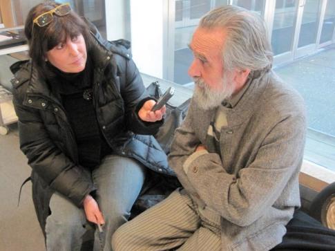 Isidoro Vlacárcel Medina en un momento de la entrevista. Fotografía: Eloísa Otero