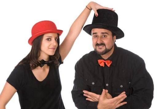 Los cuentacuentos Emma Ilusioneta y Manuel Ferrero.