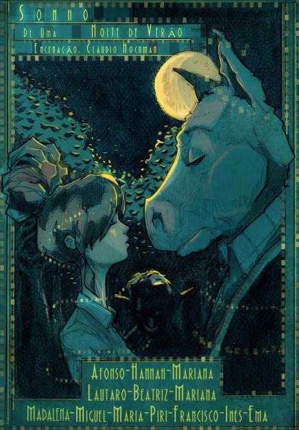 """Cartel de la obra """"Sueño de una noche de verano"""", de Shakespeare, diseñado por Juan Cavia."""