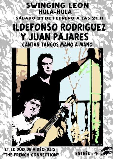 El cartel, realizado por Abel Morán sobre una foto de José Ramón Vega.