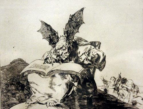 """Estampa de Goya titulada """"Contra el bien general"""", un símbolo que ilustra el fondo de este artículo."""