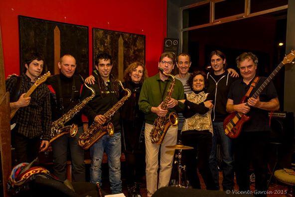 Los músicos improvisadores en el Hotel Quindós, el jueves 5 de febrero de 2015. © Fotografía: Vicente García.