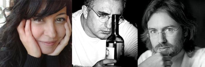 Cecilia Quílez, Víktor Gómez Valentinos y Rafael Saravia.
