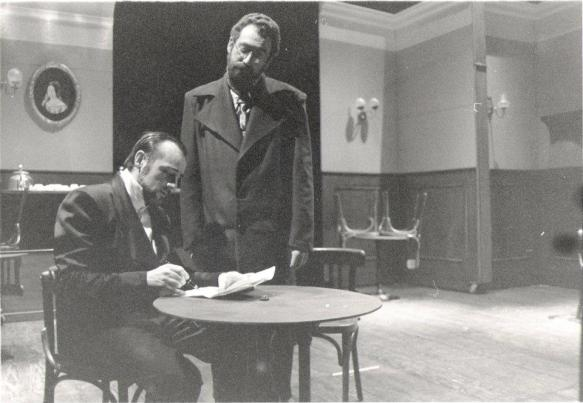 Imagen de la primera representación de la obra, por Conde Gatón, en 1996.