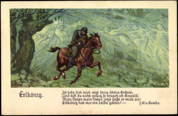 "Goethe. ""Der Erlkönig"". Ilustración."