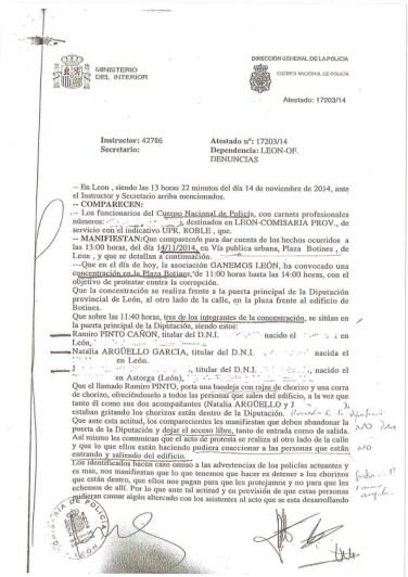 La denuncia de la Policía (1).