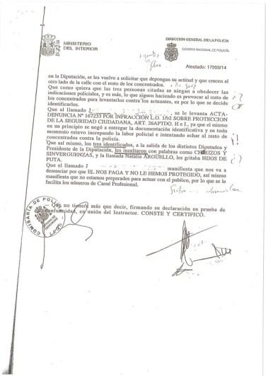La denuncia de la Policía (2).