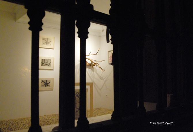 Imagen de la Casa Panero, con algunas de las piezas expuestas al fondo. © Fotografía: Eloy Rubio Carro.