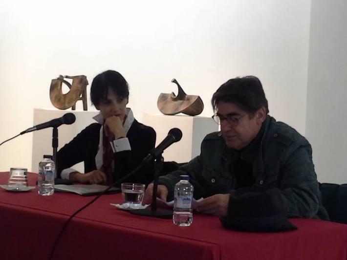 Pilar Martín Gila e Ildefonso Rodríguez en la Fundación Montes.