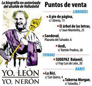 Portada del libro y puntos de venta en Valladolid.